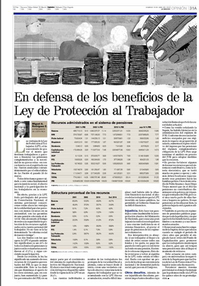 Defensa de los beneficios